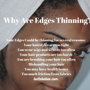 Why are my edges thinning?